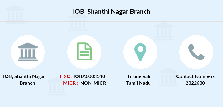 Indian-overseas-bank Shanthi-nagar branch