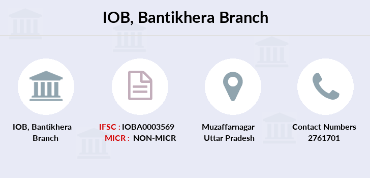 Indian-overseas-bank Bantikhera branch