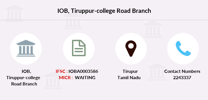 Indian-overseas-bank Tiruppur-college-road branch