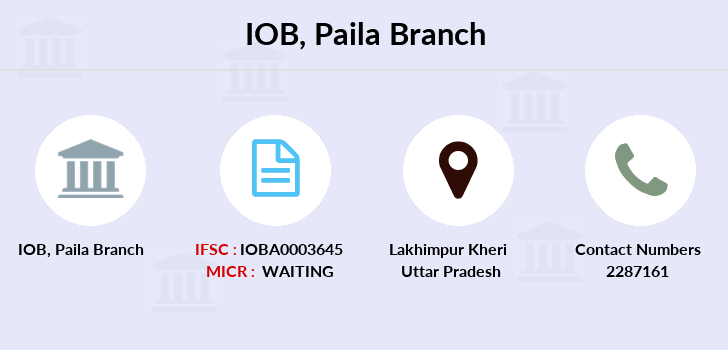 Indian-overseas-bank Paila branch