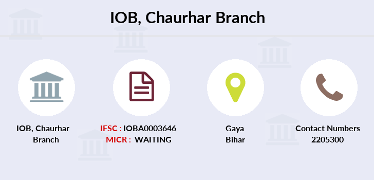 Indian-overseas-bank Chaurhar branch