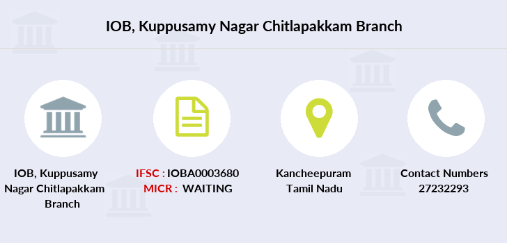 Indian-overseas-bank Kuppusamy-nagar-chitlapakkam branch