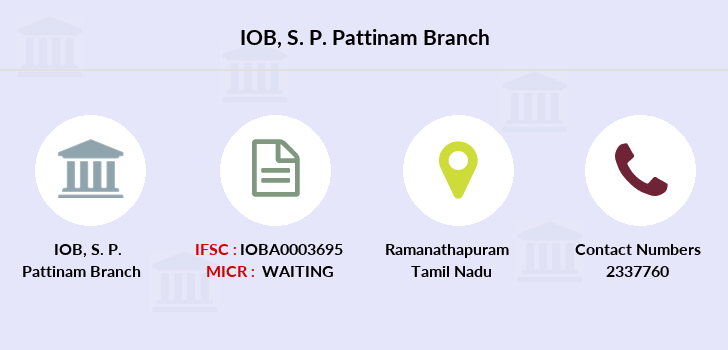 Indian-overseas-bank S-p-pattinam branch