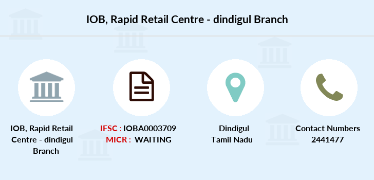 Indian-overseas-bank Rapid-retail-centre-dindigul branch