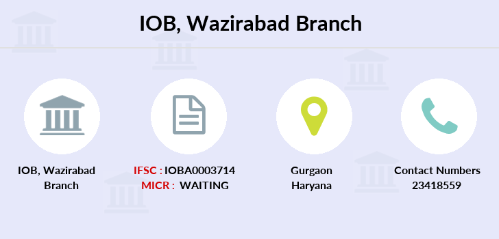 Indian-overseas-bank Wazirabad branch