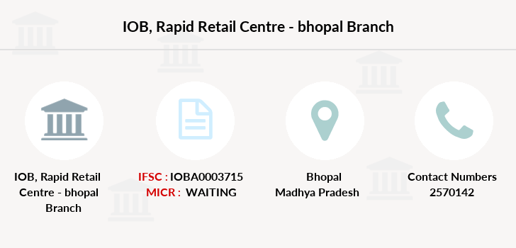 Indian-overseas-bank Rapid-retail-centre-bhopal branch