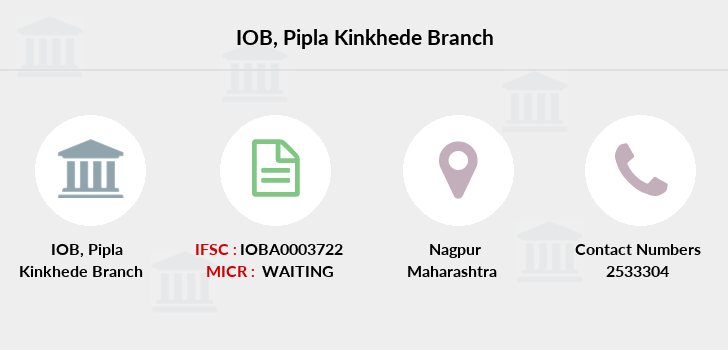 Indian-overseas-bank Pipla-kinkhede branch