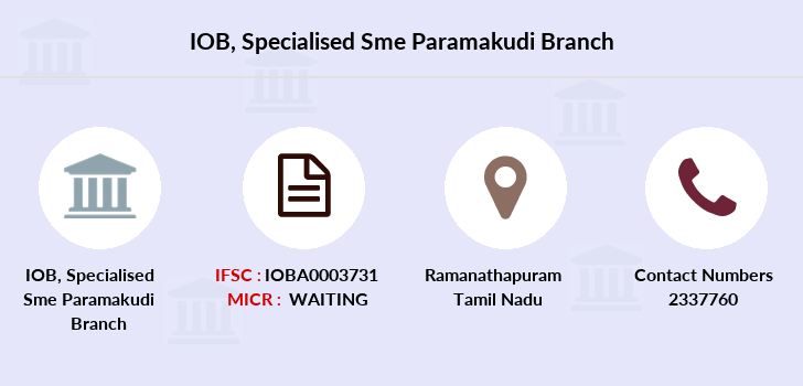 Indian-overseas-bank Specialised-sme-paramakudi branch