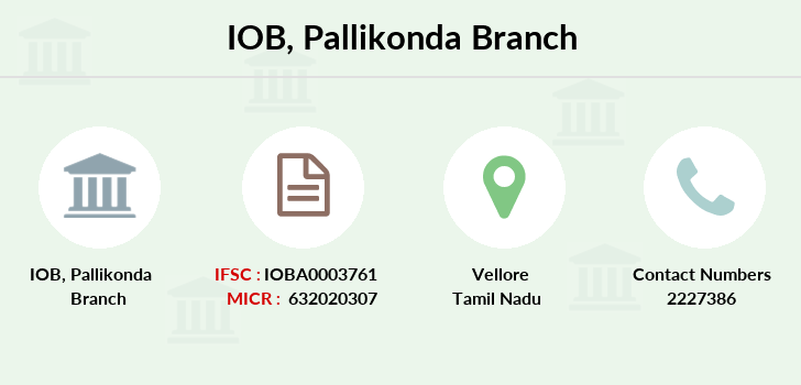 Indian-overseas-bank Pallikonda branch
