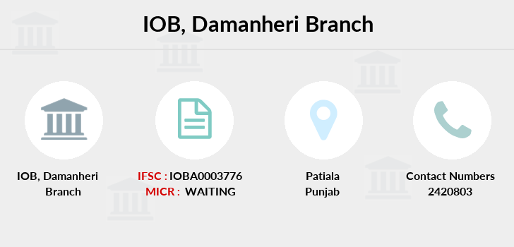 Indian-overseas-bank Damanheri branch