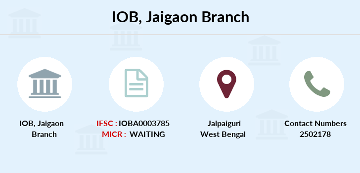 Indian-overseas-bank Jaigaon branch