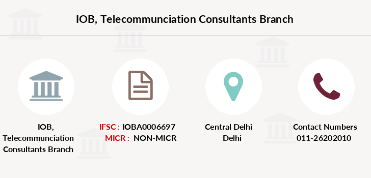 Indian-overseas-bank Telecommunciation-consultants branch