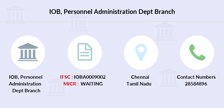 Indian-overseas-bank Personnel-administration-dept branch