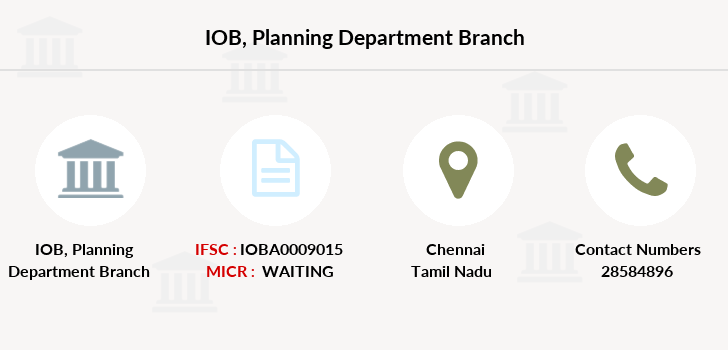 Indian-overseas-bank Planning-department branch