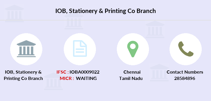 Indian-overseas-bank Stationery-printing-co branch