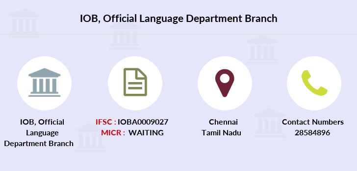 Indian-overseas-bank Official-language-department branch