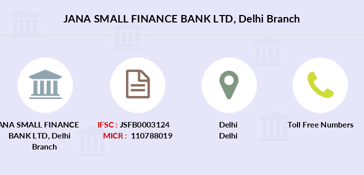 Jana-small-finance-bank-ltd Delhi branch