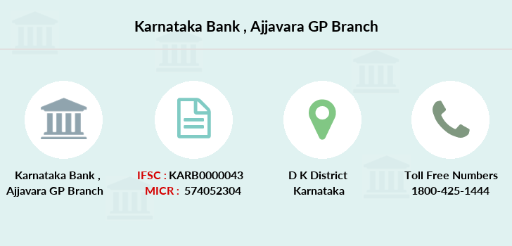 Karnataka-bank Ajjavara-gp branch