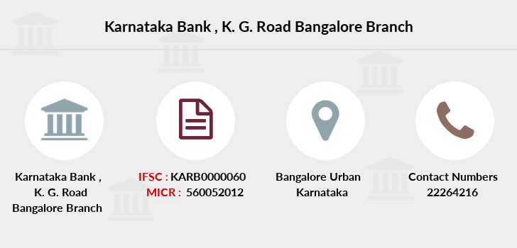 Karnataka-bank K-g-road-bangalore branch