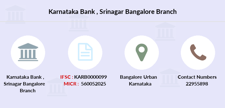 Karnataka-bank Srinagar-bangalore branch