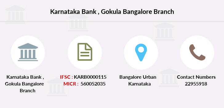 Karnataka-bank Gokula-bangalore branch