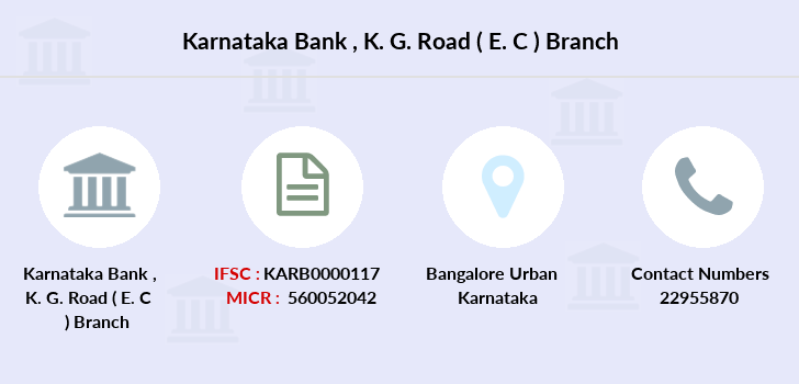 Karnataka-bank K-g-road-e-c branch