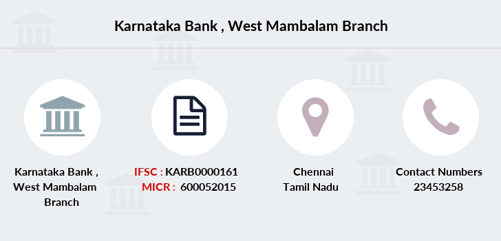 Karnataka-bank West-mambalam branch