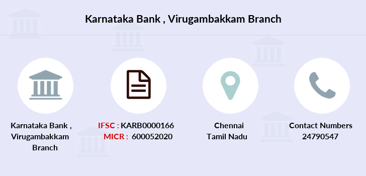 Karnataka-bank Virugambakkam branch