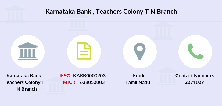 Karnataka-bank Teachers-colony-t-n branch