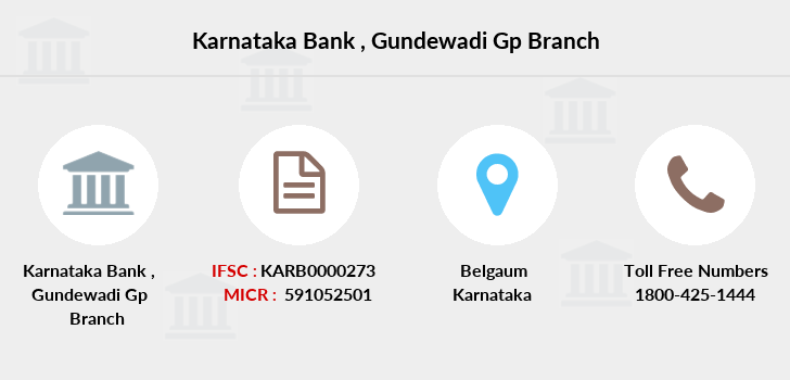 Karnataka-bank Gundewadi-gp branch