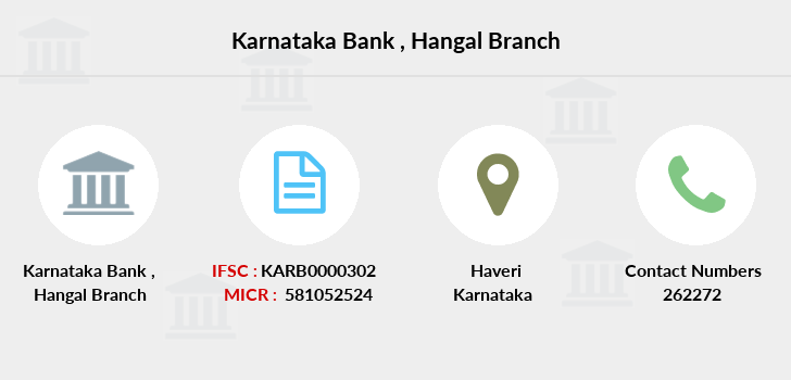 Karnataka-bank Hangal branch