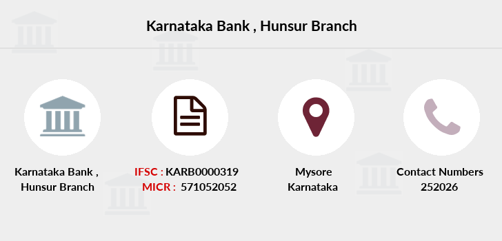 Karnataka-bank Hunsur branch