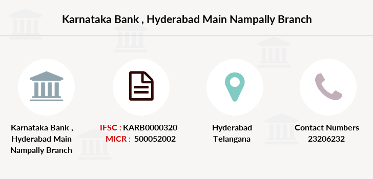 Karnataka-bank Hyderabad-main-nampally branch