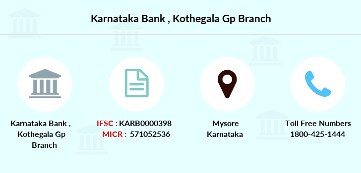 Karnataka-bank Kothegala-gp branch