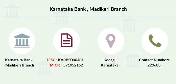 Karnataka-bank Madikeri branch