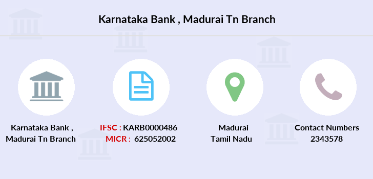 Karnataka-bank Madurai-tn branch