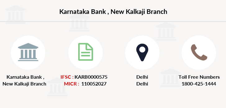 Karnataka-bank New-kalkaji branch