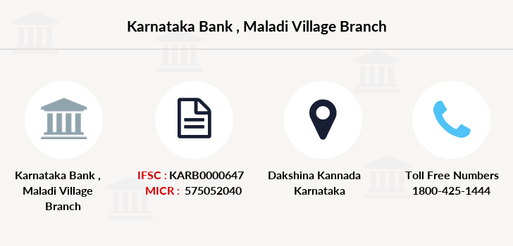 Karnataka-bank Maladi-village branch