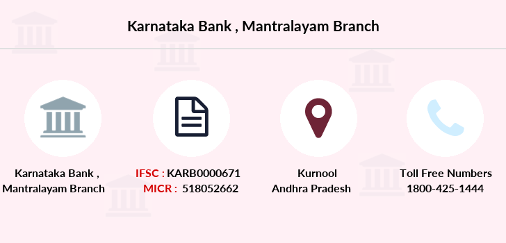 Karnataka-bank Mantralayam branch