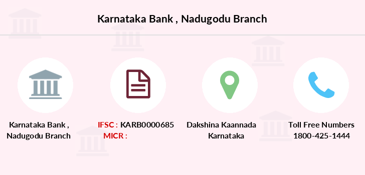 Karnataka-bank Nadugodu branch