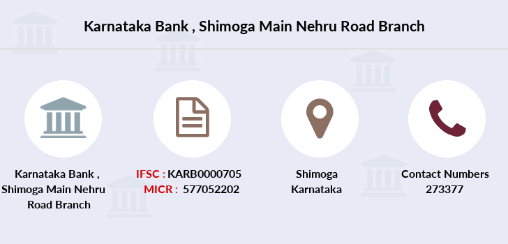Karnataka-bank Shimoga-main-nehru-road branch
