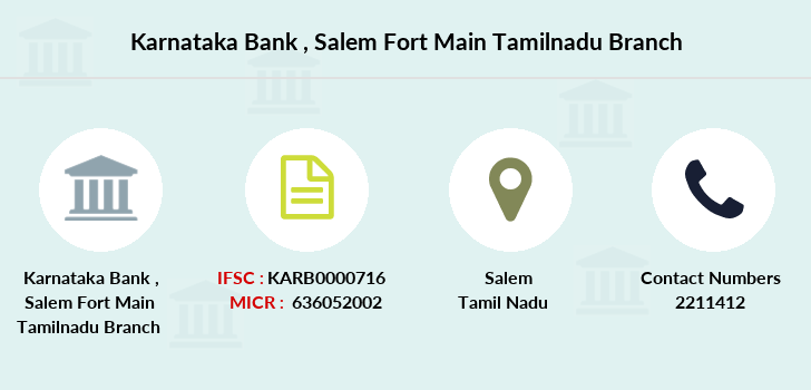 Karnataka-bank Salem-fort-main-tamilnadu branch