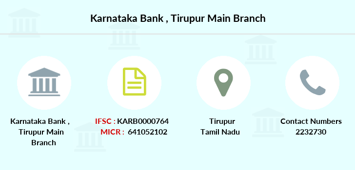 Karnataka-bank Tirupur-main branch