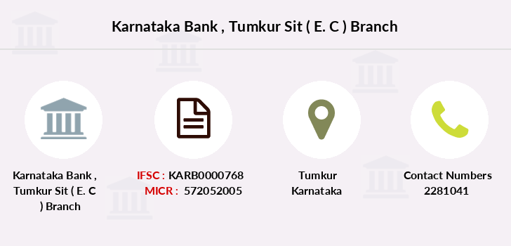Karnataka-bank Tumkur-sit-e-c branch