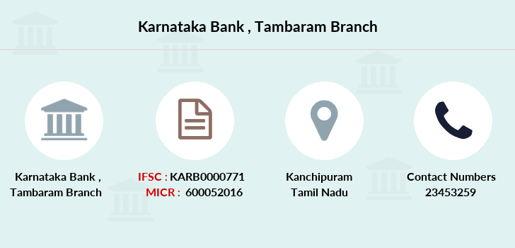 Karnataka-bank Tambaram branch