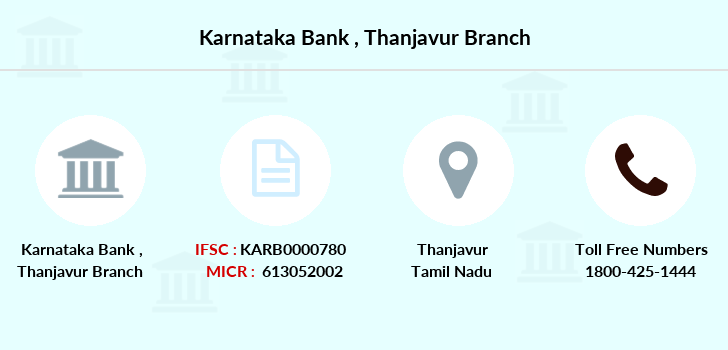 Karnataka-bank Thanjavur branch
