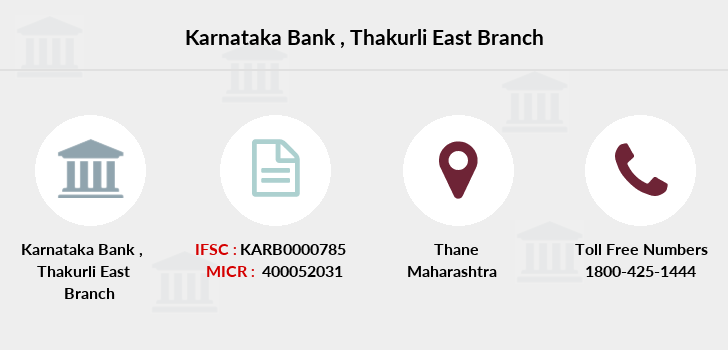 Karnataka-bank Thakurli-east branch