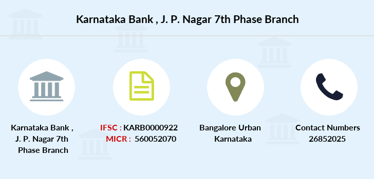Karnataka-bank J-p-nagar-7th-phase branch