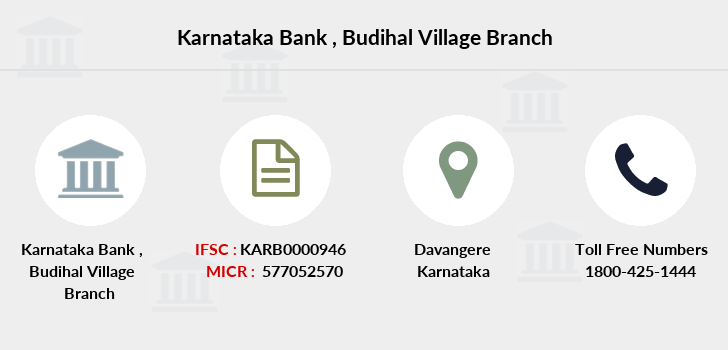 Karnataka-bank Budihal-village branch
