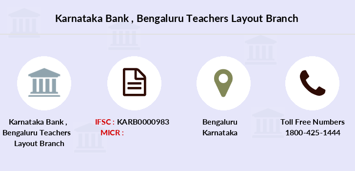 Karnataka-bank Bengaluru-teachers-layout branch